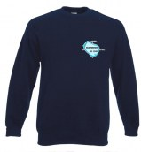Sweat, color dark blue, enbroided